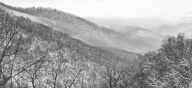 Shenandoah National Park in black and white. Photo credit: Stefanie Payne