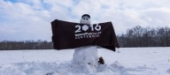 Our Centennial Snowman and Buddy Bison on a wonderful snowy day in Cuyahoga Valley National Park!