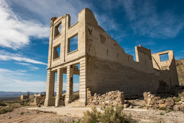 Rhyolite, an old mining town on the eastern side of Death Valley National Park in Nevada, is a quick one hour drive from Furnace Creek where you can learn about the area's mining history (/ghost town!) Photo credit: Jonathan Irish